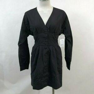 """Obey LS Mini Dress with Pockets """"Sienna"""" Black"""